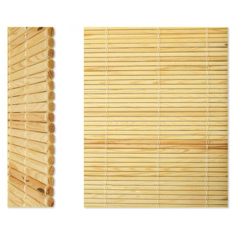 Persiana bambú natural exterior