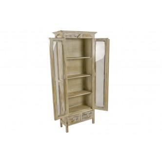 Mueble de escalera de madera de pio encerada