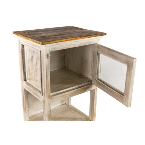 Aparador para TV de madera de mahonagy color teka