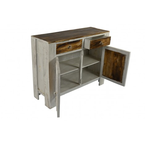 C moda r stica de madera d epino natural sin tratar - Muebles madera natural sin tratar ...