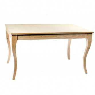 Mesa rústica velador de madera de pino encerado modelo 975