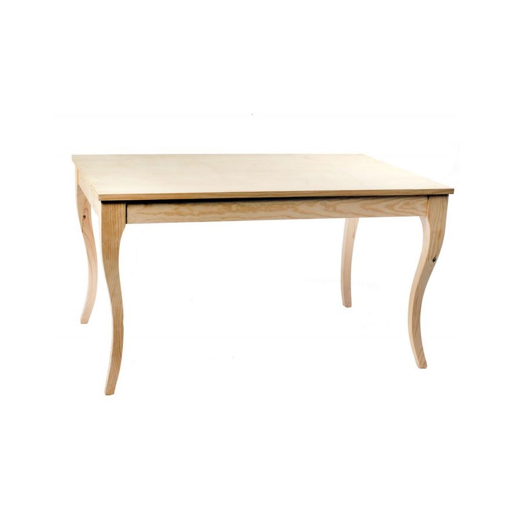 Mesa rústica valador de madera de pino encerado modelo 975