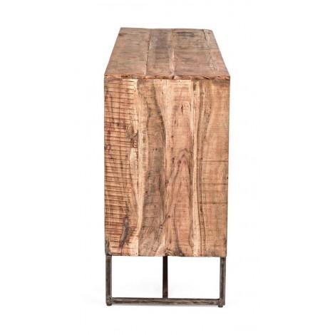 Espejo Bcr de madera de mahogany pintado en varios colorespieza única