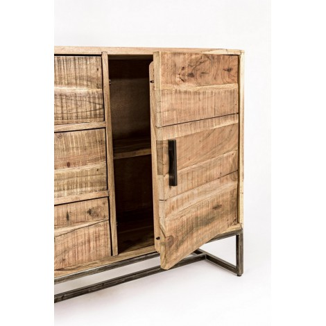 Silla Gim madera tropical lacado lanco mate efecto tiza tapizado en algodón