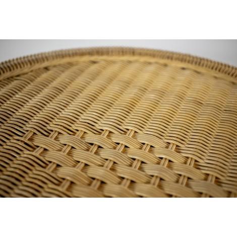 Lámpara de pie de caña de bambú color natural