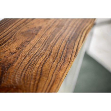 Cabecero de madera de pino encerado estilo rústico