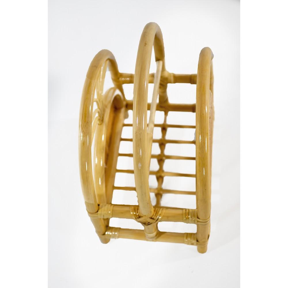 Mesita de noche KAB estilo rústico vintage de madera reciclada color teka