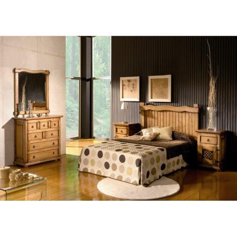Trona para niño en madera natural y asiento de ahenea