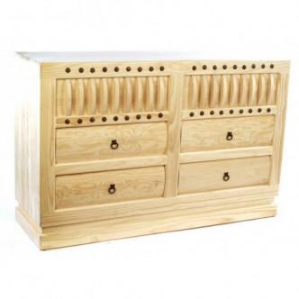Cómoda rústica de madera de...