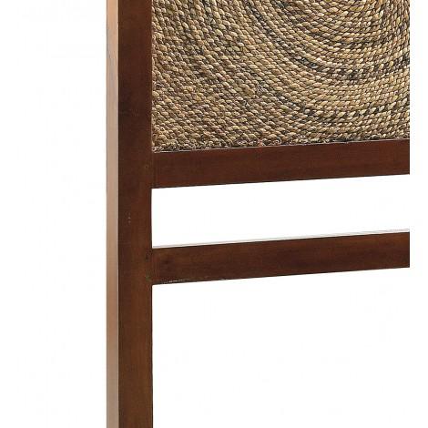 Solido taburete bajo rustico madera de pino macizo, MOAI.es