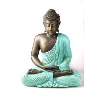 Budha policromado de cerámica
