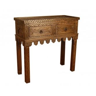 Consola de madera labrada...