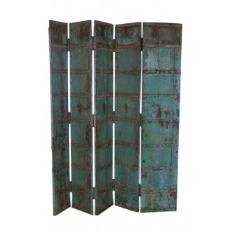 Panel biombo 5 hojas madera...