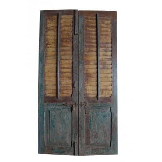 Puerta antigua teca 2 hojas...