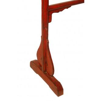 Persiana de madera interior con cenefa