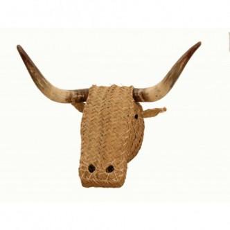 Moai Muebles y Decoración ·  Cabeza de toro de esparto