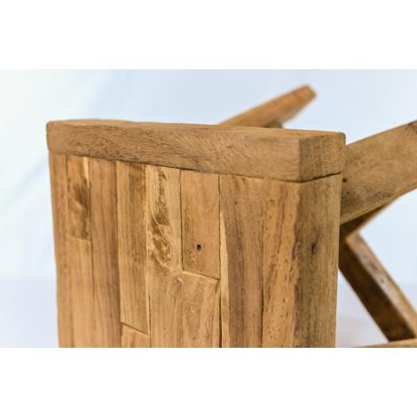 Marquesina de madera maciza encerada