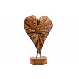 Pedestal corazón teca...