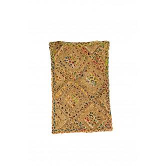 Cojín puff de terciopelo color turquesa de la india