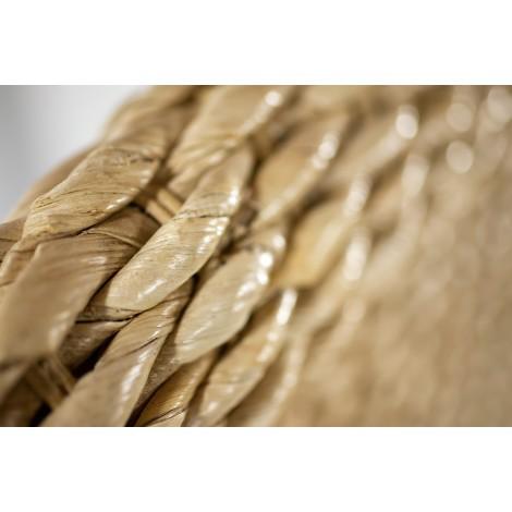 Cabecero rústico de madera de pino encerado
