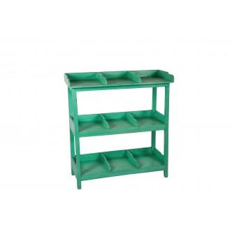 Mesa de centro rústica de madera de pino encerada tapa de cristal.Plazo de entrega 15 dias