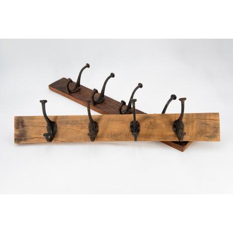 Escritorio rústico de madera de pino encerado con tres cajones