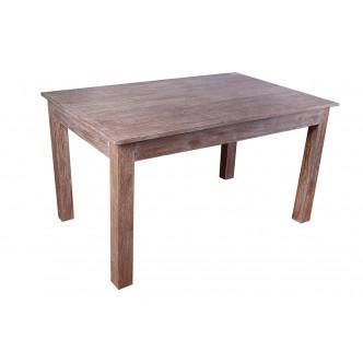 Mesita de noche de madera de pino con cuatro cajones estilo rústico