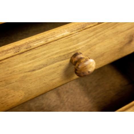 Sillón de madera para niños con brazos y asiento