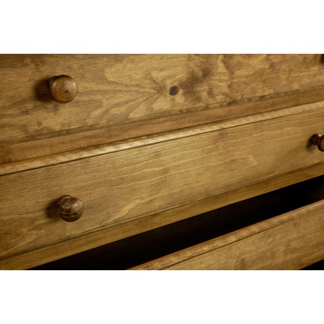 Sillón de madera para niños con brazos y asiento de ahenea