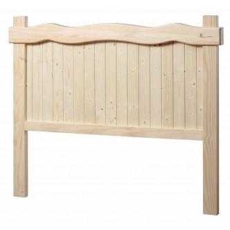 Mesa de comedor con tablero redondeado y patas torneadas (ancho 160)