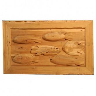 Moai Muebles y Decoración ·  Cuadro de madera rústica tallada