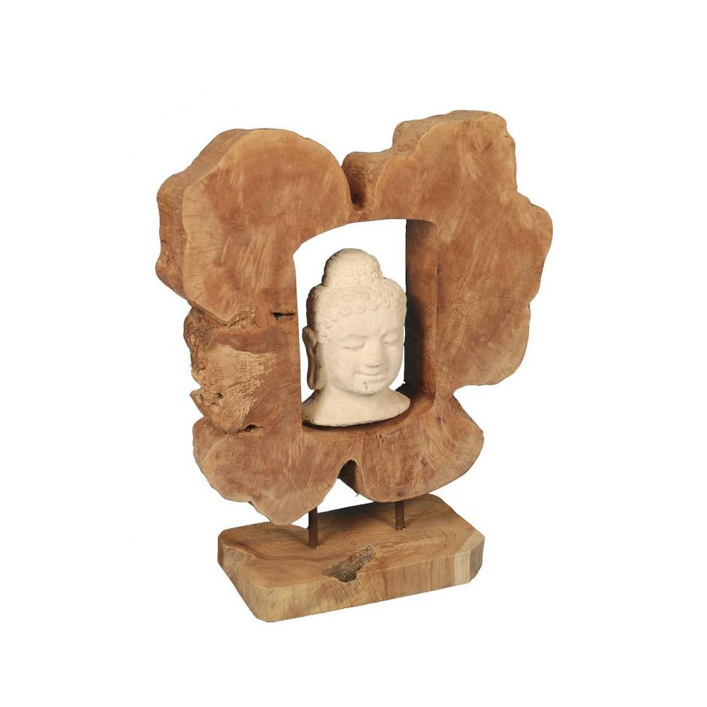 Moai Muebles y Decoración ·  Figura de madera con budha de
