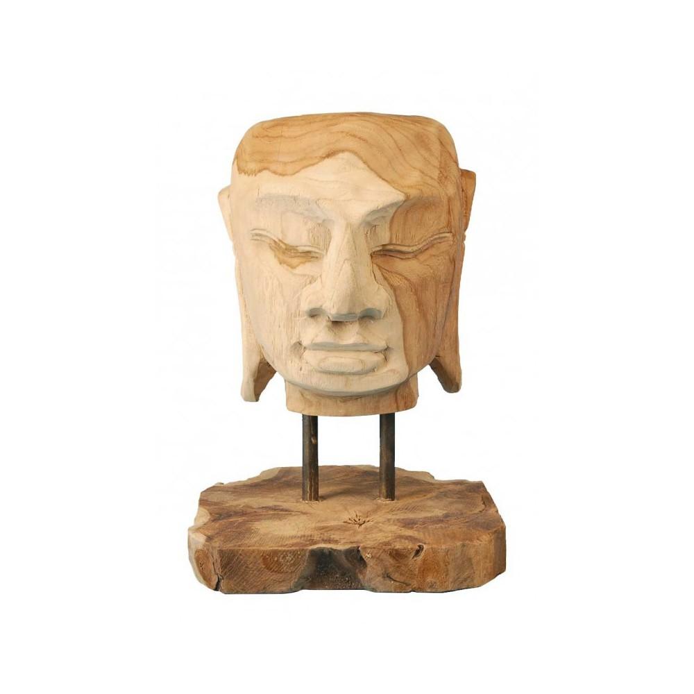 Moai Muebles y Decoración ·  Figura cabeza de budha de madera