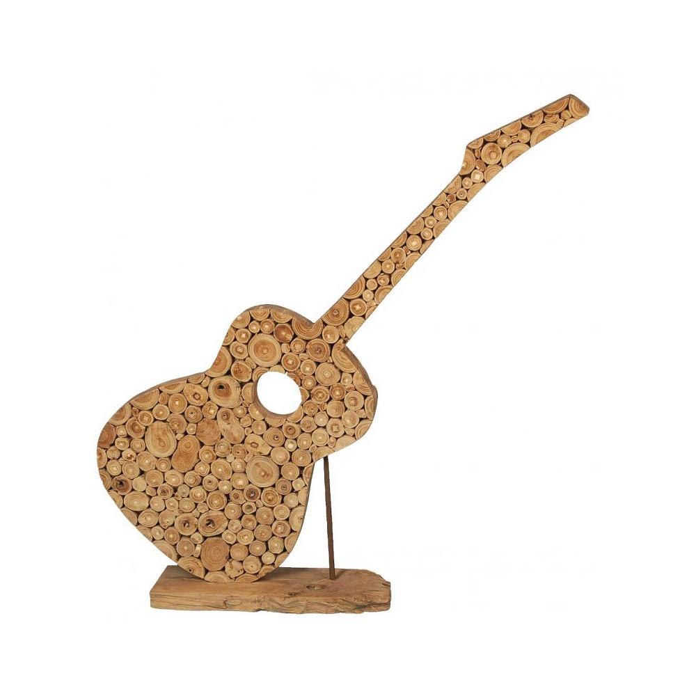 Moai Muebles y Decoración ·  Guitarra decorativa de madera de