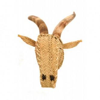 Moai Muebles y Decoración ·  Cabeza de cabra de esparto