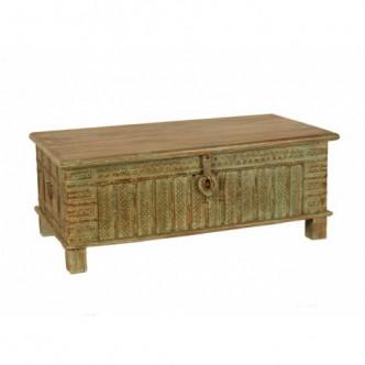 Mesa india baúl de madera...