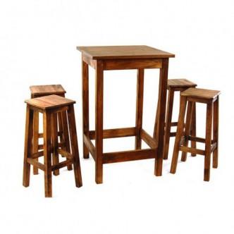 Conjunto de mesa alta con 4...