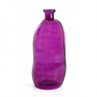 Moai Muebles y Decoración ·  Botella de vidrio color lila