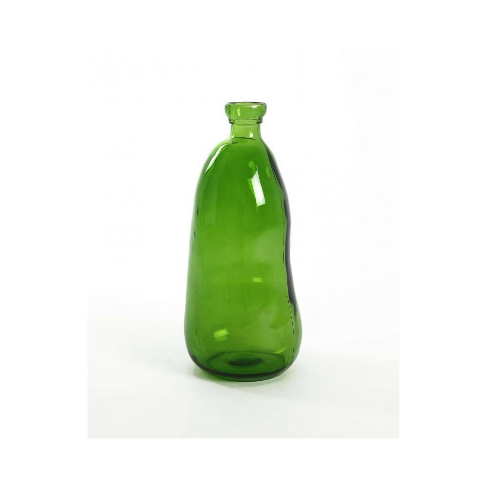 Moai Muebles y Decoración ·  Botella de vidrio color verde