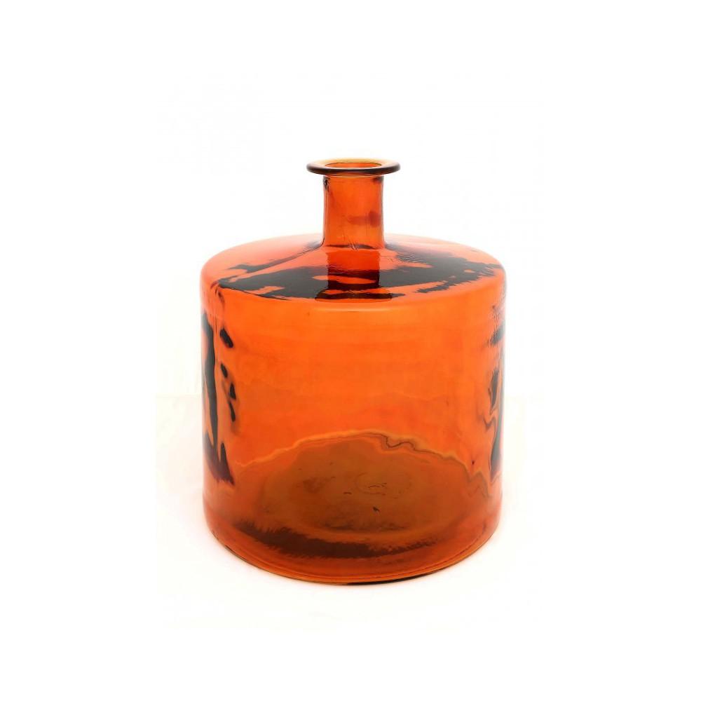 Moai Muebles y Decoración ·  Botella de vidrio color naranja