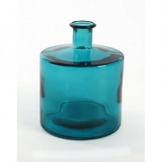 Moai Muebles y Decoración ·  Botella de vidrio azul 20 cms alto