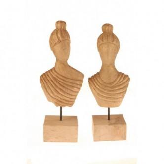 Moai Muebles y Decoración ·  Figuras de mujer de madera tallada