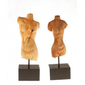 Moai Muebles y Decoración ·  Bustos de madera tallada femenino