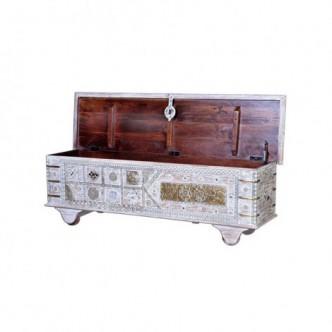 Baúl de madera de mango y...