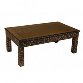 Mesa marroquí de madera de...