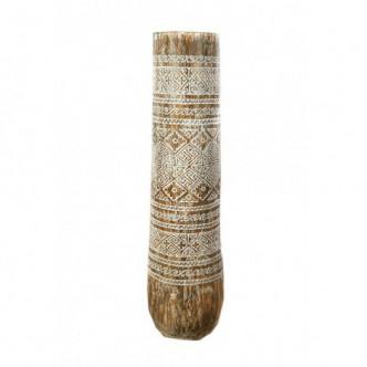 Moai Muebles y Decoración ·  Macetero tronco de palmera tallado