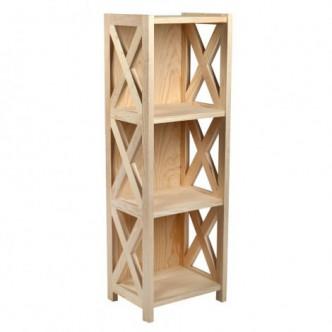 Librero de madera de pino...