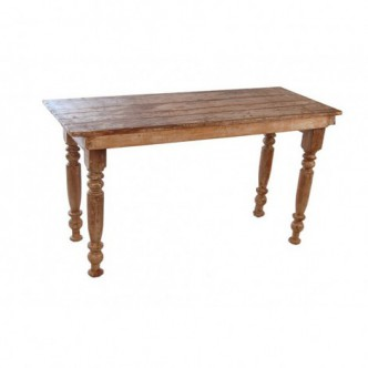 Mesa antigua de teca plegable